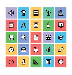 Education square icons 1 vector