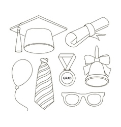Graduation elements set vector