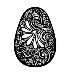 Holiday ornate easter egg vector