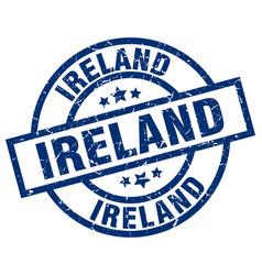 Ireland blue round grunge stamp vector
