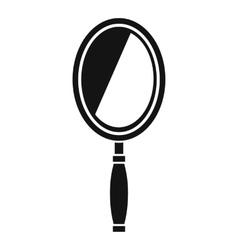 Mirror icon simple style vector