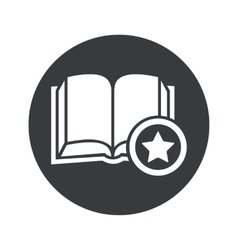 Monochrome round favorite book icon vector