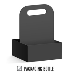 Packaging for bottles vector image vector image