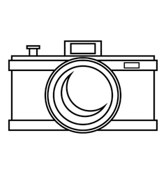 Photocamera icon outline style vector