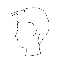 profile man head character hairstyle vector image