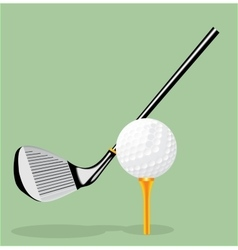 realistic Golf club and golf vector image vector image