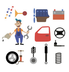 Repair shop car service vector
