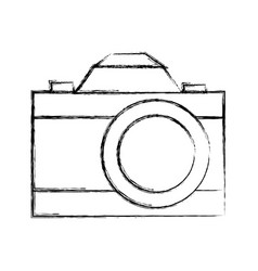 retro camera photographic isolated icon vector image vector image