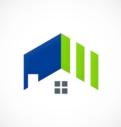 roof home realty abstract logo vector image