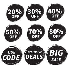 Sales grunge badge vector image