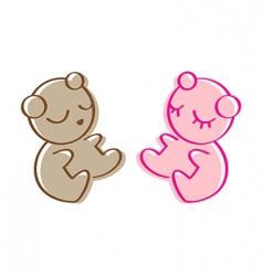 sleeping teddy bear vector image