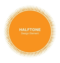 Sun circle halftone emblem design element vector
