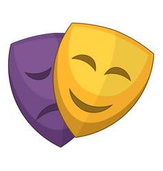theater masks icon cartoon style vector image