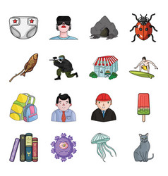 Toy horror story and other web icon in cartoon vector