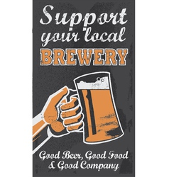 Vintage style Chalkboard beer sign banner vector image