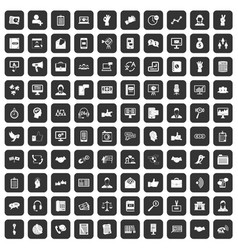 100 dialog icons set black vector