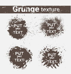 grunge texture background set banner collection vector image