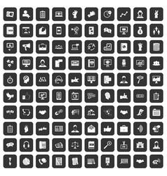 100 dialog icons set black vector