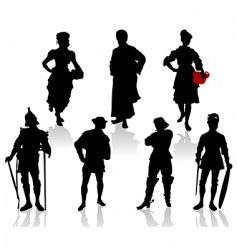 actors in costumes  3 vector image