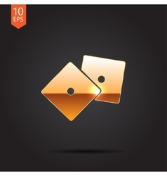 Dice icon eps10 vector