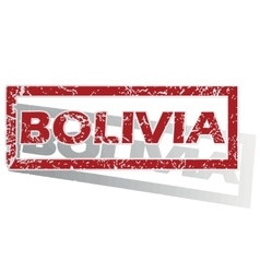 Bolivia outlined stamp vector