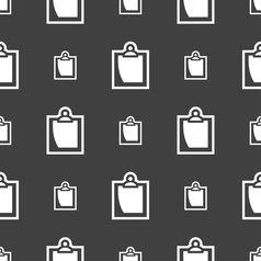 Sheet of paper icon sign seamless pattern on a vector