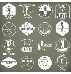 Golf labels badges and emblems vector