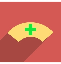Medical visor flat longshadow square icon vector