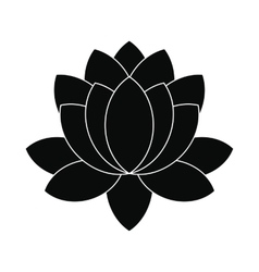 Blue lotus flower icon simple style vector