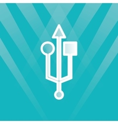 Usb symbol design vector