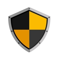 Shield object icon vector