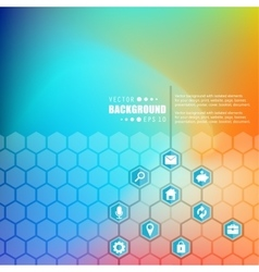 Abstract creative concept hexagon network vector image
