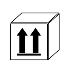 Box carton with arrows icon vector