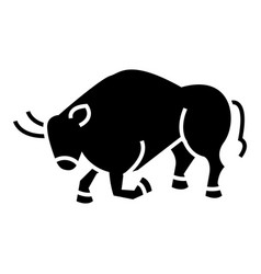 bull fight - spain icon vector image