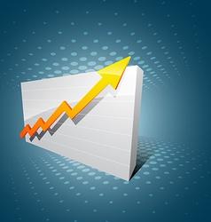 Business arrow vector