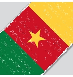 Cameroon grunge flag vector image vector image