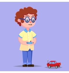 Cartoon of Cute Boy with vector image