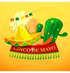 Cinco de Mayo background vector image