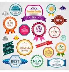 Color sale labels set vector image vector image