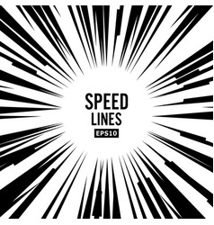 Comic speed lines book black and white vector