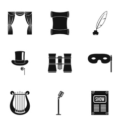 Concert icons set simple style vector