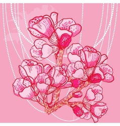 delicate spring flower on background vector image