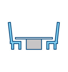 desk with chairs vector image