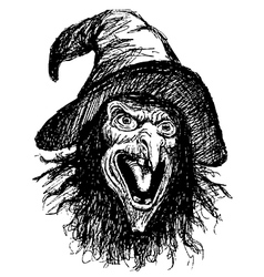 face of witch vector image vector image