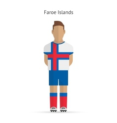 Faroe islands football player soccer uniform vector