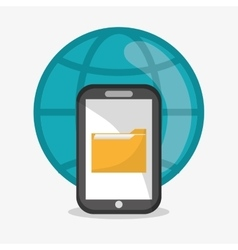 File smartphone and document design vector