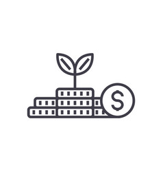 growth moneyinvestmentfinance plan line vector image vector image