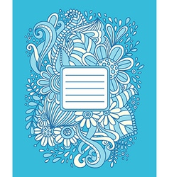 Hand drawn frame vector image vector image