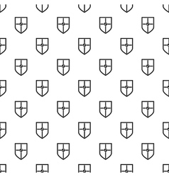 Heraldic shield pattern simple style vector