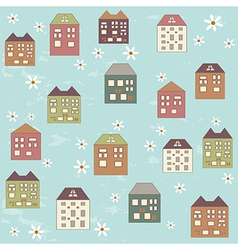 Houses pattern vector image vector image